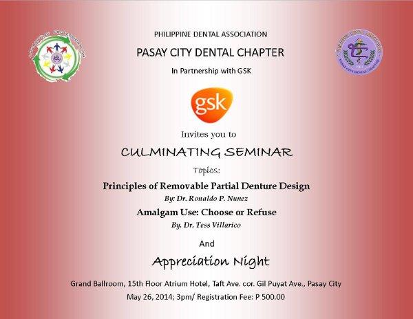 Pasay Dental Chapter Appreciation Night  2014