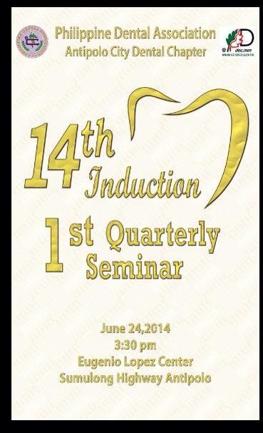 Antipolo City Dental Chapter 14th Induction page 1